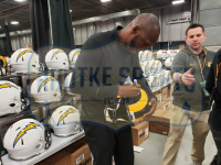 Isaac Bruce Signed St. Louis Rams Full-Size Authentic On-Field SpeedFlex Helmet (Radtke COA) at PristineAuction.com