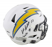 "Keenan Allen Signed Los Angeles Chargers Full-Size Authentic On-Field SpeedFlex Helmet Inscribed ""Bolt Up"" (Radtke COA)"