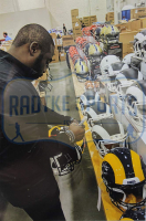 """Marshall Faulk Signed St. Louis Rams Full-Size Authentic On-Field SpeedFlex Helmet Inscribed """"GSOT"""" (Radtke COA) at PristineAuction.com"""