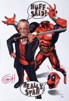 "Greg Horn Signed ""Deadpool and Smilin' Stan"" 13x19 Lithograph (JSA COA) at PristineAuction.com"