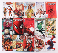 "Lot of (15) 2009-2010 Marvel ""Amazing Spider-Man"" Comic Books with Issues #581, 598, 600, 623"