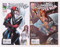 "Lot of (2) 2009 Marvel ""Amazing Spider-Man"" Comic Books With Issues #601 & 606 J Scott Campbell Covers"