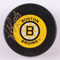 Ray Bourque Signed Boston Bruins Logo Hockey Puck (PSA COA)