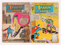 "Lot of (2) 1960-1961 DC Comic ""Action Comics"" Books with Issues #271 & #278"