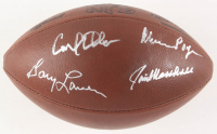 """Minnesota Vikings """"Purple People Eaters"""" NFL Logo Football Signed by (4) with Carl Eller, Alan Page, Jim Marshall & Gary Larsen (Beckett COA) at PristineAuction.com"""