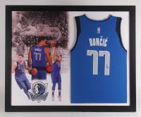 Luka Doncic Signed Dallas Mavericks 35.5x43.5 Custom Framed Jersey Display (Beckett Hologram)