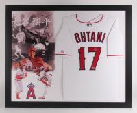 Shohei Ohtani Signed Los Angeles Angels 35.5x43.5 Custom Framed Jersey Display (PSA COA)