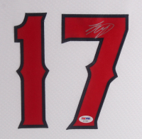 Shohei Ohtani Signed Los Angeles Angels 35.5x43.5 Custom Framed Jersey Display (PSA COA) at PristineAuction.com