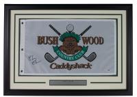 "Chevy Chase Signed 20x28 Custom Framed ""Caddyshack"" Bushwood Country Club Golf Pin Flag (PSA COA)"