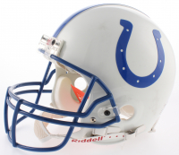 Edgerrin James Signed Indianapolis Colts Full-Size Authentic On-Field Helmet (Beckett COA) at PristineAuction.com
