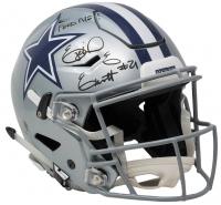 "Ezekiel Elliott Signed Dallas Cowboys Full-Size Speed Helmet Inscribed ""Feed Me!"" (Beckett COA)"