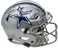 "Ezekiel Elliott Signed Dallas Cowboys Full-Size Authentic On-Field SpeedFlex Helmet Inscribed ""How Bout Them Cowboys!"" (Beckett COA)"