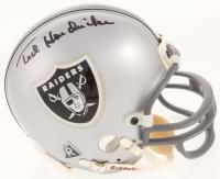 Ted Hendricks Signed Oakland Raiders Mini-Helmet (Beckett COA)