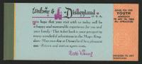 Vintage 1963 Disneyland Ticket Coupon Booklet