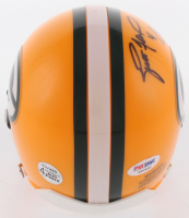 Brett Favre & Bart Starr Signed Green Bay Packers Mini Helmet (PSA COA & Favre Hologram) at PristineAuction.com