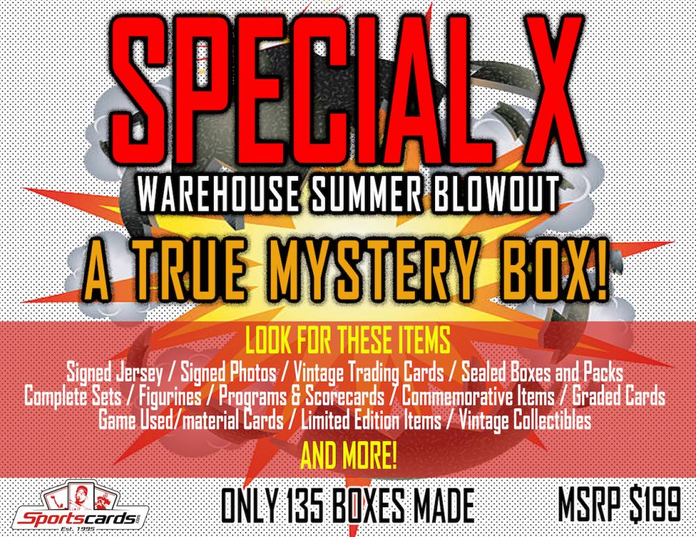"""SPECIAL X BLOWOUT BOX"" – A TRUE SPORTS MEMORABILIA MYSTERY BOX! at PristineAuction.com"