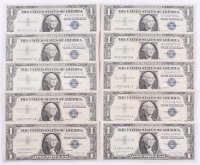 Lot of (10) 1957 $1 One-Dollar Blue Seal Silver Certificates