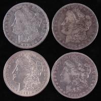 Lot of (4) Morgan Silver Dollars with 1883-O, 1885, 1888-O, & 1921