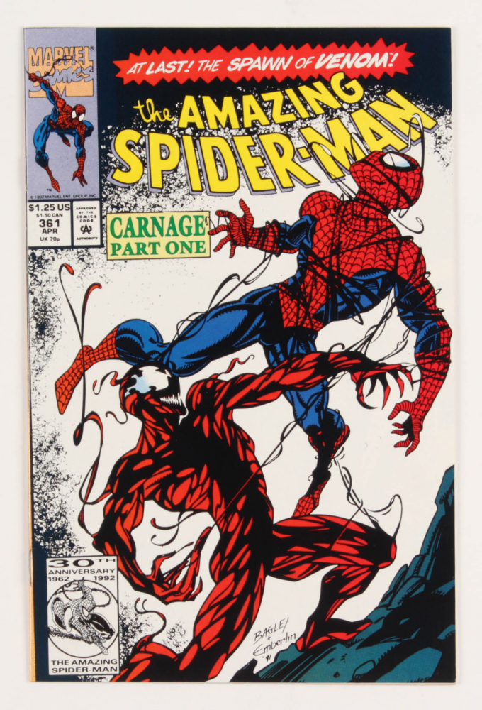 "1992 ""Amazing Spider-Man"" First Print Issue #361 Marvel Comic Book at PristineAuction.com"