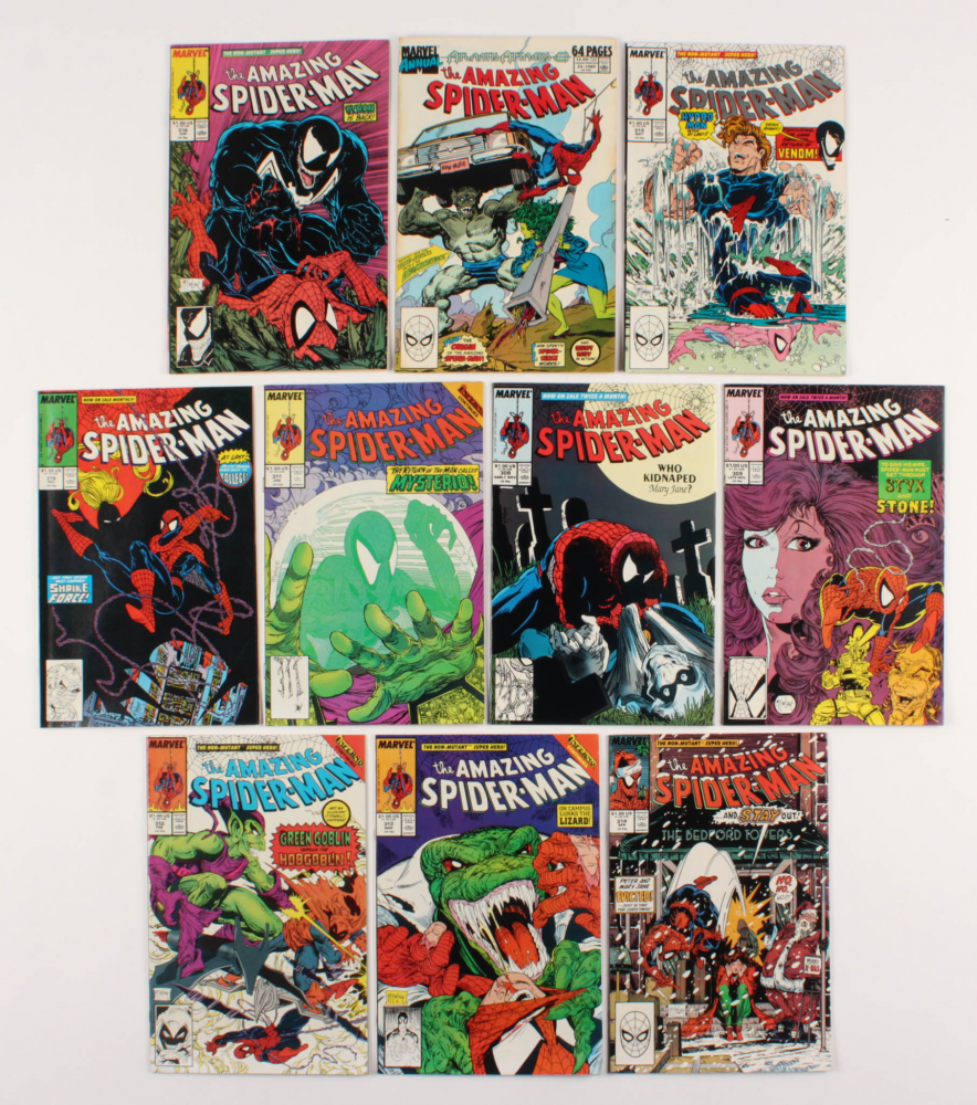 "Lot of (10) 1988-89 ""The Amazing Spider-Man"" #308-316 Marvel Comic Books at PristineAuction.com"
