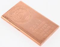 "2011 1/2 Half-Pound .999 Fine Copper ""John F. Kennedy"" Bullion Bar"