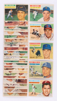 Lot of (32) 1956 Topps Baseball Cards with #180 Robin Roberts, #190 Carl Furillo, #198 Ed Fitzgerald, #202 Jim Hearn, #201 Rip Repulski at PristineAuction.com