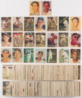 Complete Set of (407) 1957 Topps Baseball Cards with #95 Mickey Mantle, #302 Sandy Koufax, #10 Willie Mays, #35 Frank Robinson RC, #76 Roberto Clemente, & #328 Brooks Robinson RC, & #20 Hank Aaron