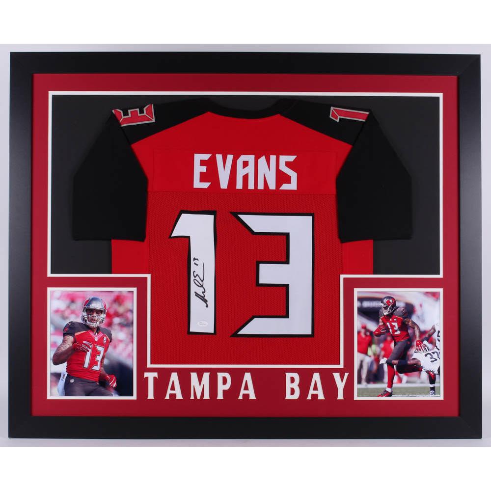 Mike Evans Autographed Tampa Bay Buccaneers Custom Red Football Jersey JSA COA