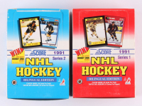 Lot of (2) Boxes of 1991 Score NHL Hockey Cards Series 1 & 2 at PristineAuction.com