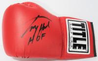 """Larry Holmes Signed Title Boxing Glove Inscribed """"HOF"""" (JSA COA)"""