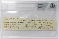 Honus Wagner Signed Cut (Beckett Encapsulated)