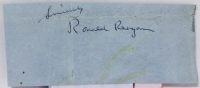 "Ronald Reagan Signed Cut Inscribed ""Sincerely"" (JSA LOA)"