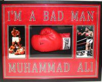 Muhammad Ali Signed 25x33x4 Custom Framed Everlast Boxing Glove Shadowbox Display (PSA LOA)