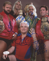 """The Four Horseman"" WWE 8x10 Photo Signed by Ric Flair, Arn Anderson, Tully Blanchard, JJ Dillion & Barry Windham (JSA COA) at PristineAuction.com"