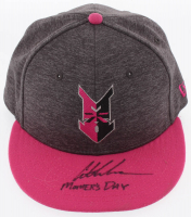 """Austin Meadows Signed Indianapolis Indians New Era Fitted Baseball Hat Inscribed """"Mother's Day"""" (Radtke COA) at PristineAuction.com"""