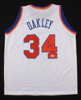 Charles Oakley Signed New York Knicks Jersey (JSA COA)