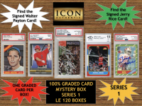 Icon Authentic 100% Graded Card Series 1 Mystery Box (Guaranteed (1) Graded PSA or Beckett Card in Every Box) ALL GRADED CARD Encapsulated