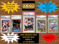 ICON AUTHENTIC  100% GRADED CARD MYSTERY BOX - SERIES 3 (Guaranteed (1) Graded PSA or Beckett card in every box)  ALL GRADED CARD Encapsulated