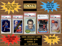 Icon Authentic 100% Graded Card Series 2 Mystery Box (Guaranteed (1) Graded PSA or Beckett Card in Every Box) ALL GRADED CARD Encapsulated