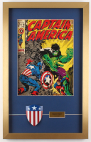 "Vintage ""Captain America"" 17x27 Custom Framed Print with Mini Shield"