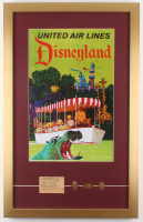 Disneyland 17x27 Custom Framed Print Display with Coins & Ticket