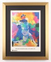 "LeRoy Neiman ""Reggie Jackson"" 17x21 Custom Framed Print Display"