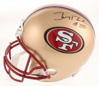 Jerry Rice Signed San Francisco 49ers Full-Size Helmet (Beckett COA) at PristineAuction.com