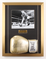 Mike Tyson Signed 17x22 Custom Framed Boxing Glove Display (JSA COA)