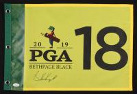 Brooks Koepka Signed 2019 PGA Championship Pin Flag (JSA COA)