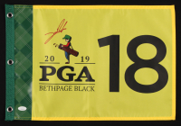 Jon Rahm Signed 2019 PGA Championship Pin Flag (JSA COA)