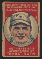 1921 Schapira Bros. #2 Babe Ruth Portrait (with Arrows) at PristineAuction.com