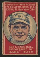 1921 Schapira Bros. #2 Babe Ruth Portrait (with Arrows)