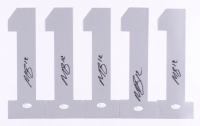 Lot Of (5) Martavis Bryant Signed Oakland Raiders #1 Jersey Numbers (JSA COA)
