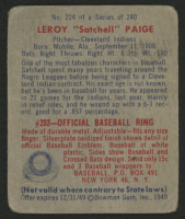 1949 Bowman #224 Satchel Paige RC at PristineAuction.com